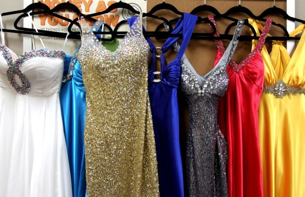 fb2874deb192 It's the time of the year when the young ladies are out shopping prom  dresses. They're looking for the one that matches their style and fit.